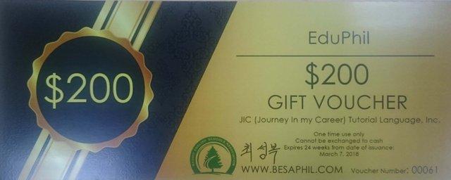 học bổng trường JIC Baguio Language Center