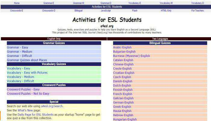 giao die Activities for ESL Student