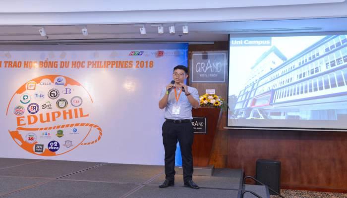 bài thuyết trình của CELLA tại Hội thảo du học Philippines 2018