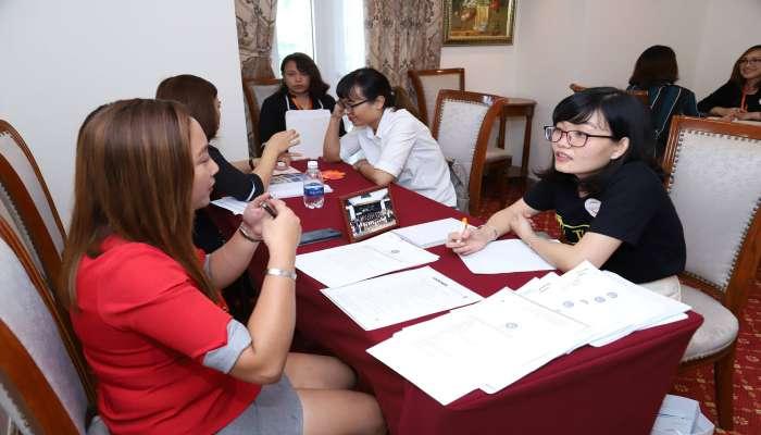 lớp học demo class tại Hội thảo du học Philippines