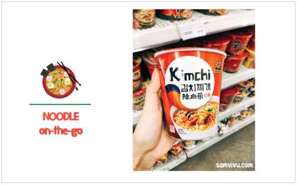 review các loại mì gói tại Philippines mì kimchi