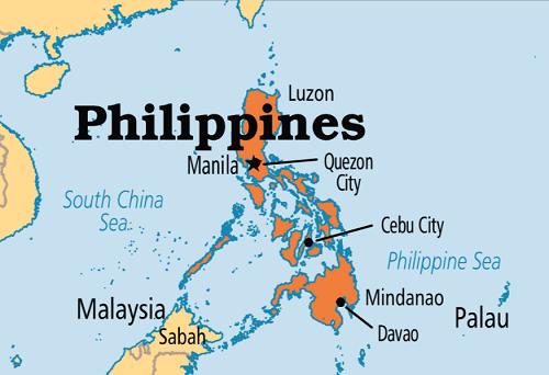 Bản đồ đất nước Philippines