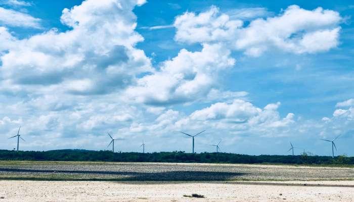 cánh đồng quạt gió tại thành phố ILOILO Philippines