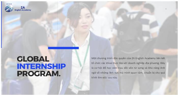 học khóa Global Internship của ZA English để có cơ hội thực tập