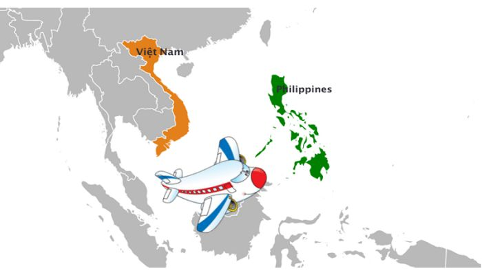 thời gian bay từ Việt Nam sang Philippines
