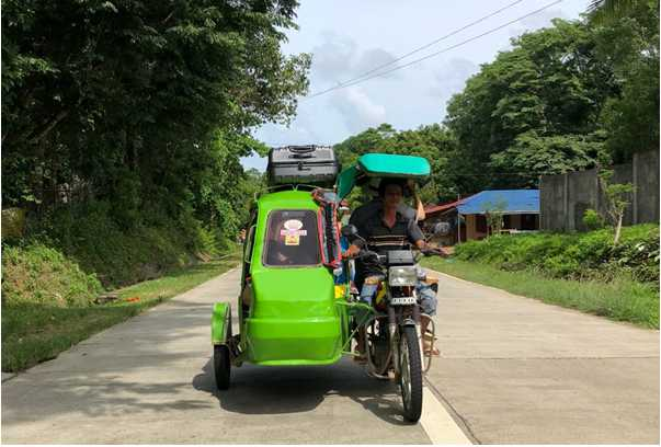 xe tricycle nổi tiếng tại thành phố ILOILO Philippines
