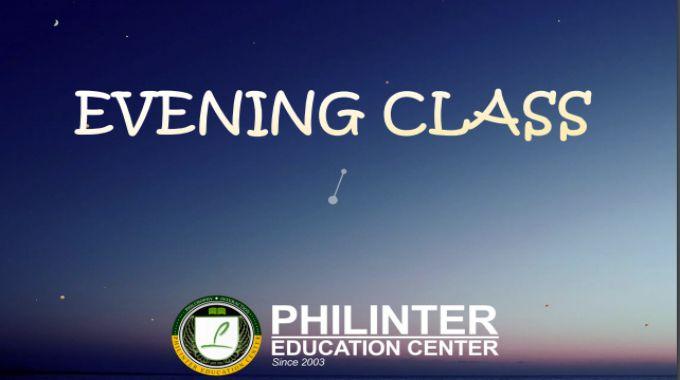 lớp học buổi tối Evening Class của trường Philinter