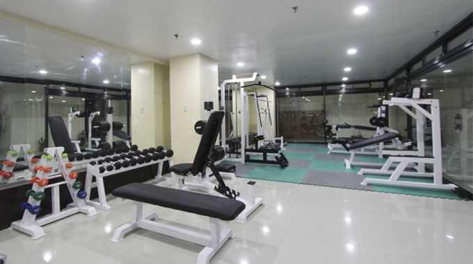 phòng tập gym tại Main Campus của Pines