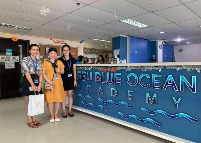 tham quan trường Anh ngữ Cebu Blue Ocean