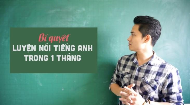 học nói tiếng Anh trong 1 tháng