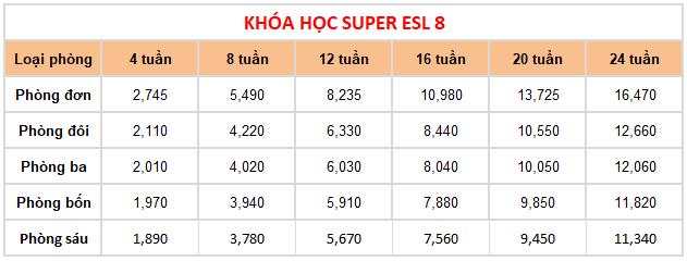 hoc phi khoa Super ESL 8 truong C2 UBEC