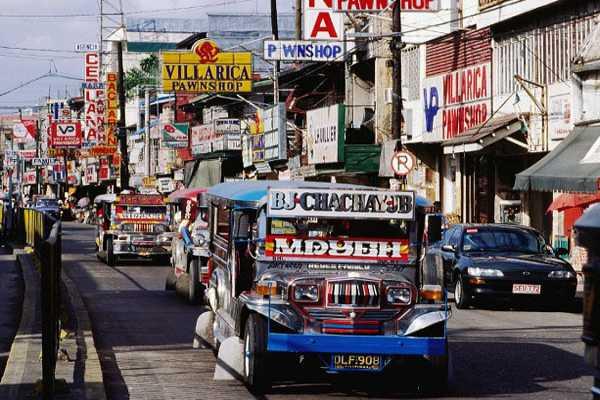 Xe jeepney bản đồ đất nước Philippines