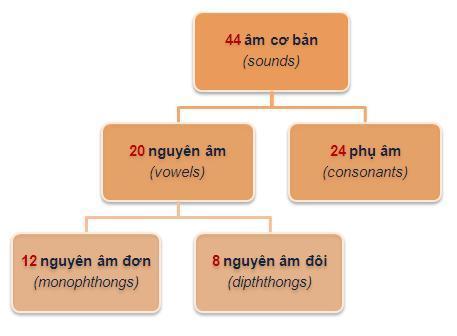 sơ đồ bảng phát âm tiếng Anh IPA