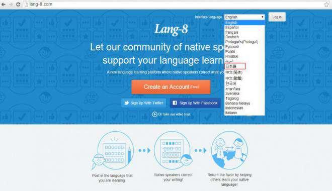học tiếng Anh miễn phí trên mạng với Lang 8