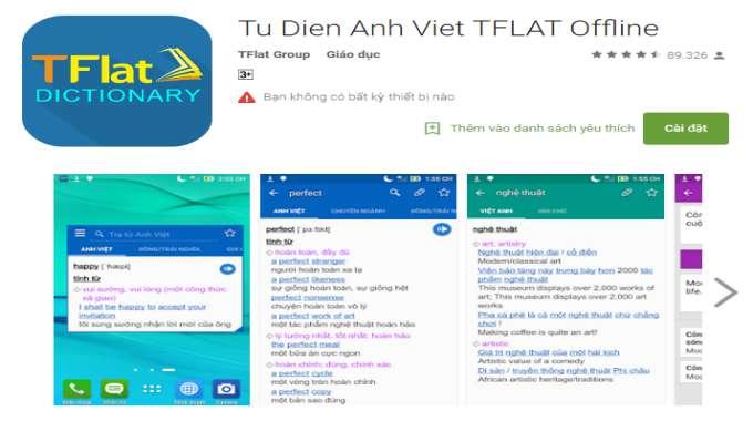ứng dụng học tiếng Anh TFlat