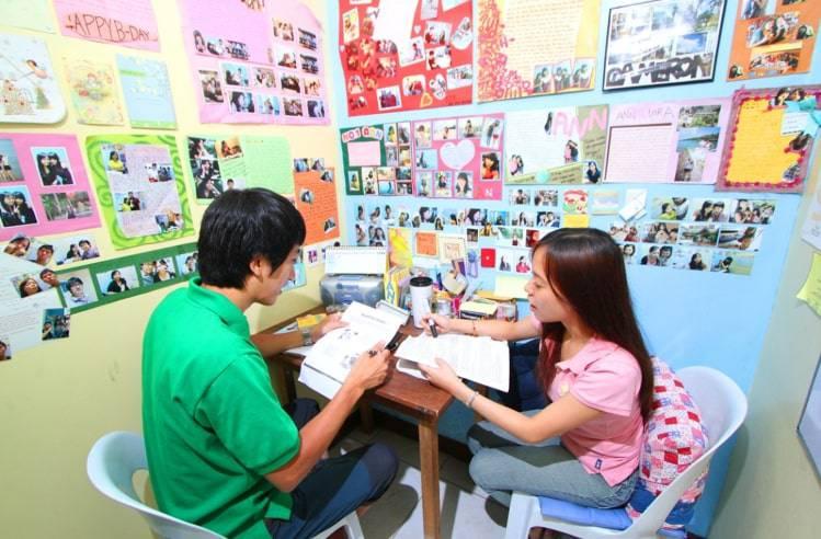 hình ảnh lớp học tiếng anh tại philippines