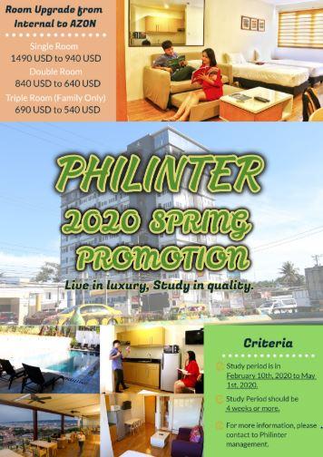 Cập nhật khuyến mãi giá phòng ký túc xá tại trường Philinter